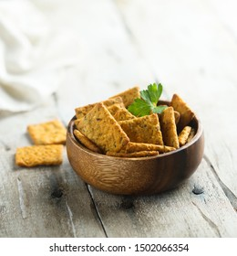 Healthy homemade crackers with seeds