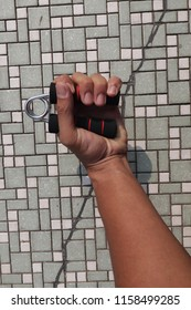 healthy life style, exercise everyday using hand grip tool to improve the strength of a person grips. Most common sports using hand grip such as basketball and baseball pitcher.