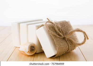 Healthy lifestyle concept with aromatic soaps