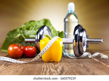 Healthy lifestyle concept, Diet and fitness  - Shutterstock ID 160379219