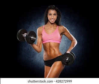 Healthy lifestyle and extreme sports. Beautiful fit woman