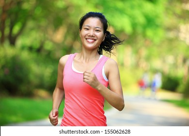 healthy lifestyle fitness  woman runner jogging at park