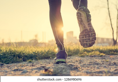 Healthy lifestyle means pleanty of outdoor activity such as running.