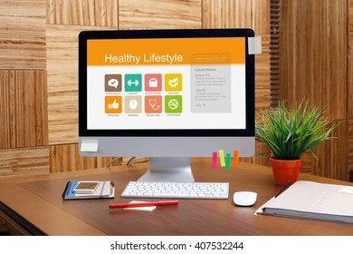Healthy Lifestyle screen on the workplace