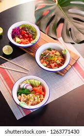 Healthy lunch bowl. Asian food