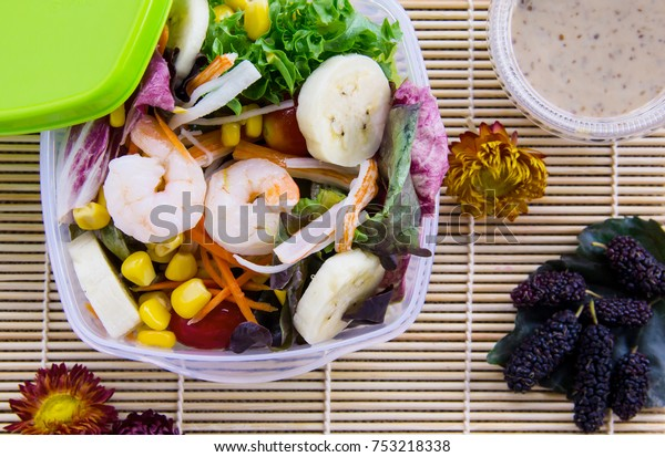 Healthy Lunch Box Recipe Low Calorie Stock Photo Edit Now