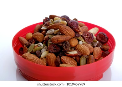 Healthy mixed nuts and dried fruits