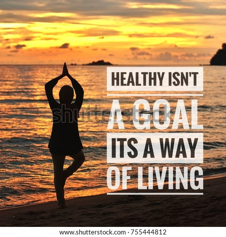 Healthy Motivational Quotes On Sunset Background Stock Photo Edit