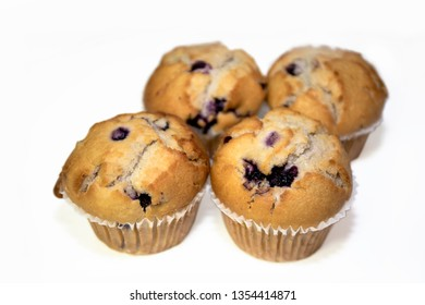 Healthy Muffins on White