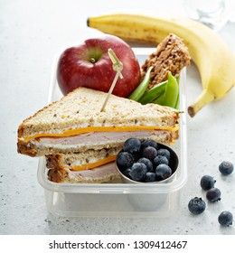 Healthy and nutritious lunch box for school kids or work, breakfast or lunch to go