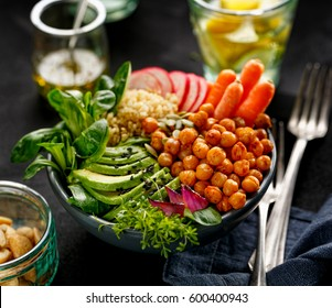 Healthy and nutritious salad with a variety of vegetables