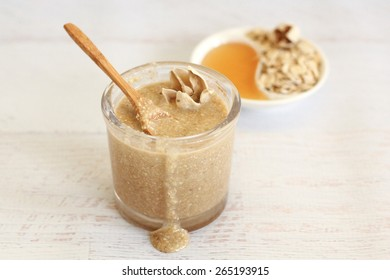 Healthy organic ingredients for homemade face and body scrub