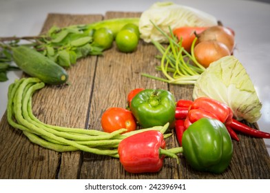 Healthy Organic Vegetables on the table