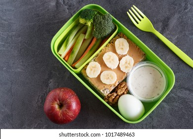 Healthy protein and veg diet snack box for lunch