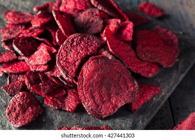 Healthy Purple Baked Beet Chips with Sea Salt