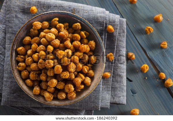 Healthy Roasted Seasoned Chick Peas with Different Spices