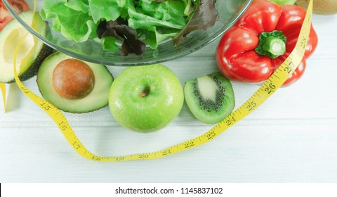 Healthy Salad Diet Food Concept Props Stock Photo Edit Now