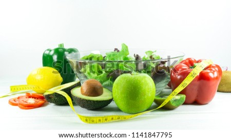 Healthy Salad Diet Food Props Decoration Stock Photo Edit Now