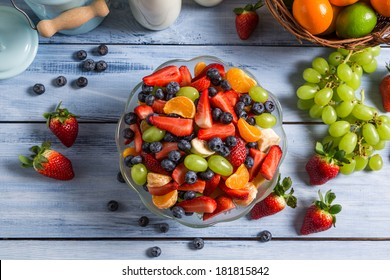 Healthy salad made �¢??�¢??of fresh fruits