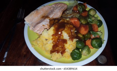 Healthy Salmon Diner Supper