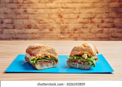 Healthy sandwich menu