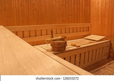 Healthy sauna Sauna spa heat steam room.