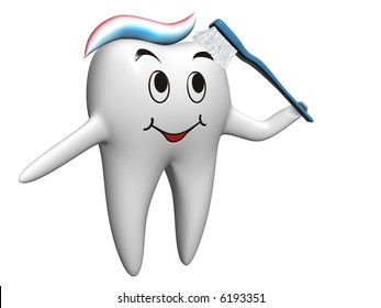 Healthy self-brushing tooth
