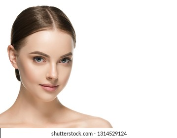 Healthy skin woman beauty female natural makeup pure skin portrait