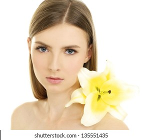 healthy skin of young female face