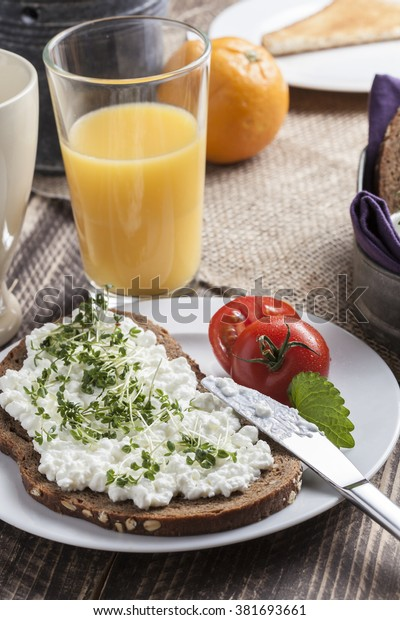 Healthy Spring Summer Low Fat Breakfast Stock Photo Edit Now