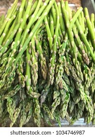 Healthy stack of asparagus fresh from the garden