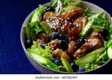 healthy vegan plant based salad