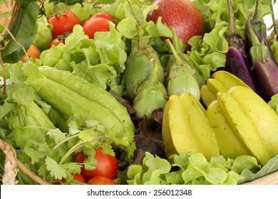 healthy vegetable food (organic and fresh food)