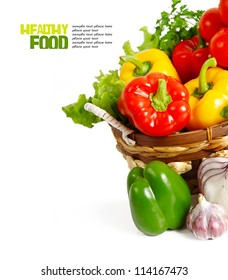 Healthy vegetables isolated