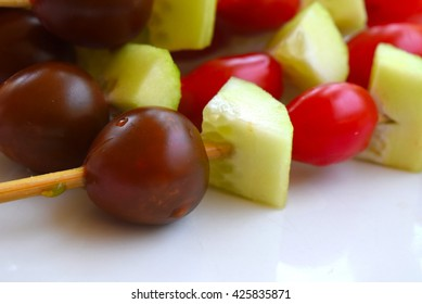Healthy vegetables on skewers