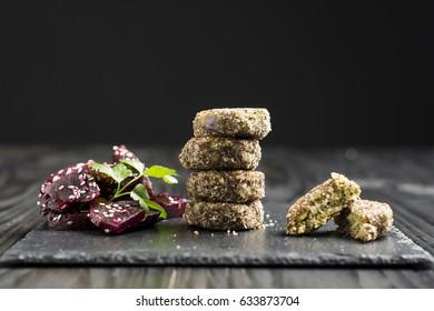 Healthy vegetarian peas patties