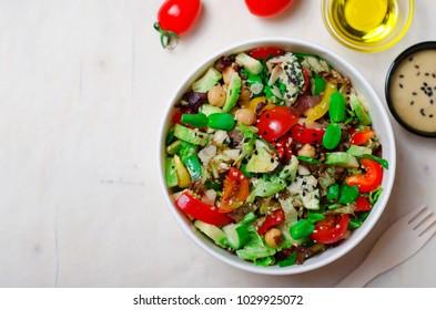 Healthy Vegetarian Salad, Delicious Vegan Meal