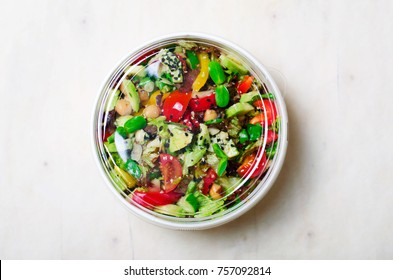 Healthy Vegetarian Salad, Take Away Food Concept, Salad in Food Container, Delicious Vegan Meal