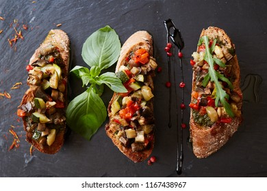 Healthy whole grain bread toast with sweet baked pepper and tomato. Healthy Nutritious