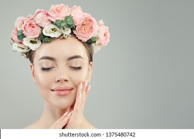 Healthy woman with perfect skin portrait. Natural beauty