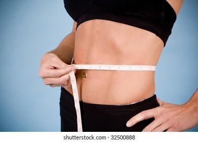 Bbw measuring her body