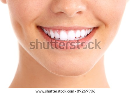 Healthy woman teeth and