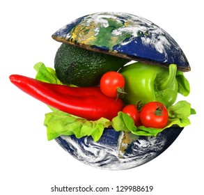 Healthy World Food. Elements of this image furnished by NASA.