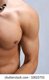 Healthy Young Male Shoulder Closeup