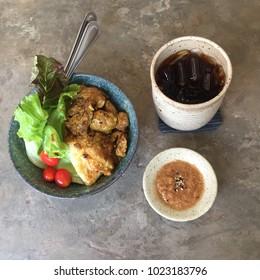 Healty food and zen pottary