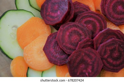 Healty salad on wooden background
