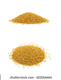 heap of amaranth seeds isolated on white