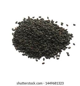 heap of black sesame isolated