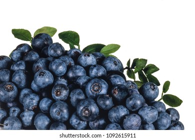 heap of blueberry, fruit of the forest, on white background