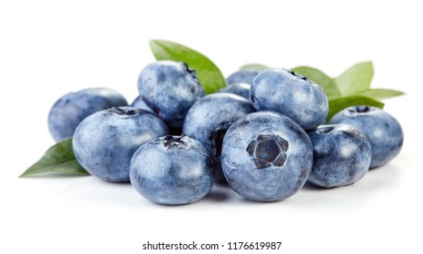 heap of blueberry fruits isolated on white background